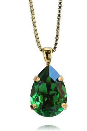 Caroline Svedbom Mini Drop Necklace - Dark Green