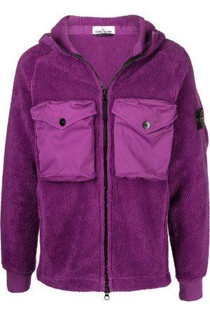 Stone Island Men Fleece Jackets - Logo Patch Fleece Jacket