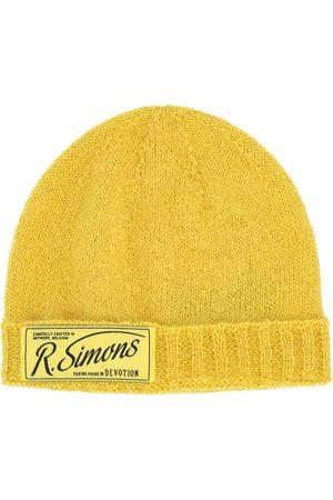 RAF SIMONS Men Beanies - Label knit beanie