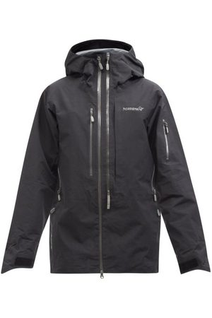 NORRØNA Men Outdoor Jackets - Lofoten Pro Plus Gore-tex Hooded Ski Jacket - Mens - Black