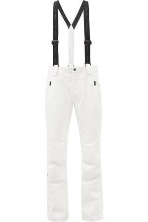 Toni Sailer Men Ski Suits - Nick Suspender Soft-shell Ski Trousers - Mens - White