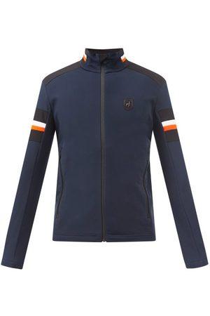Toni Sailer Leopold Fleece-back Jersey Mid-layer Jacket - Mens - Navy