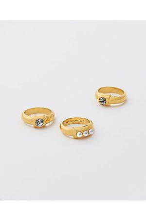 ANN TAYLOR Studded Ring Set