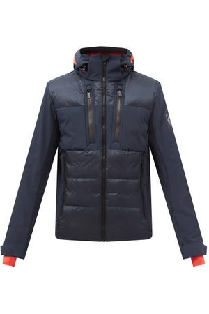 Toni Sailer Men Outdoor Jackets - Aron Hooded Quilted-shell Ski Jacket - Mens - Navy