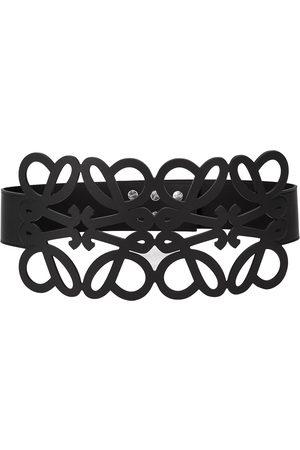 Loewe Women Belts - Anagram cut-out leather belt