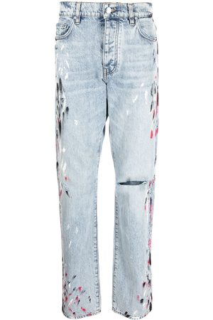 AMIRI Paint-splatter straight-leg jeans