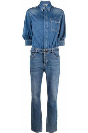 Pinko Women Jeans - Flap-pocket denim jumpsuit