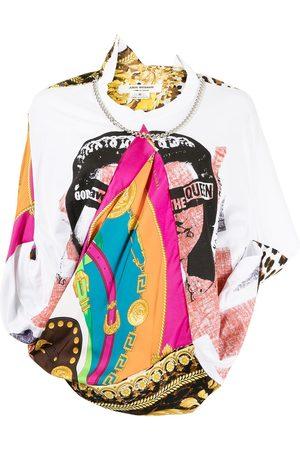 JUNYA WATANABE Women T-shirts - Scarf-detail silk T-shirt - Multicolour
