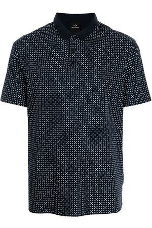 Armani Men Polo Shirts - Motif-print polo shirt