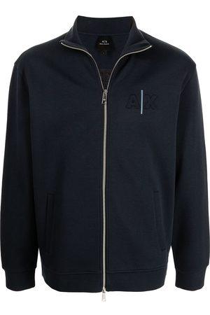 Armani Logo-patch cotton jacket