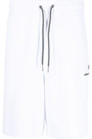 Armani Embroidered-logo track shorts