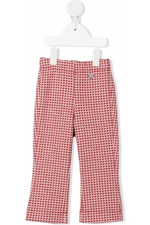 MONNALISA Chinos - Houndstooth flares trousers