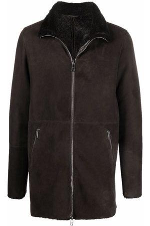 GIORGIO BRATO High-neck shearling leather jacket