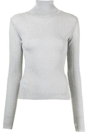 SJYP Metallic knit top