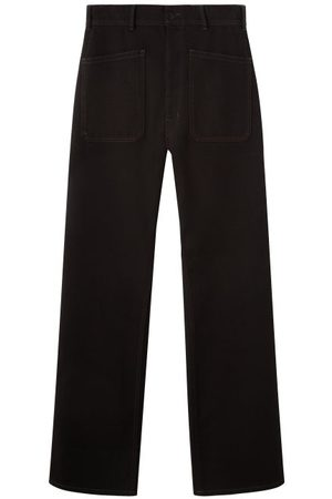 LEMAIRE Men High Waisted - Patch-pocket High-rise Wide-leg Jeans - Mens