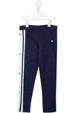 Emporio Armani Girls Sweatpants - Logo-print cotton track pants