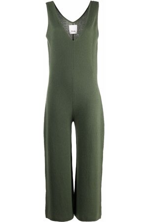 Allude Women Jumpsuits - V-neck knitted jumpsuit