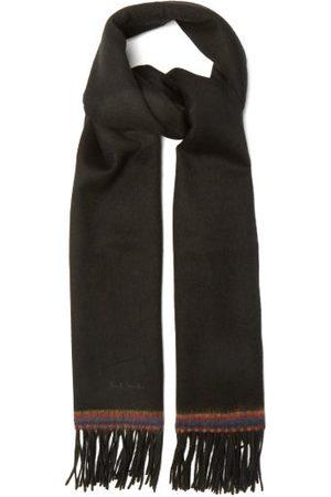 Paul Smith Men Scarves - Artist-stripe Fringed Wool Scarf - Mens
