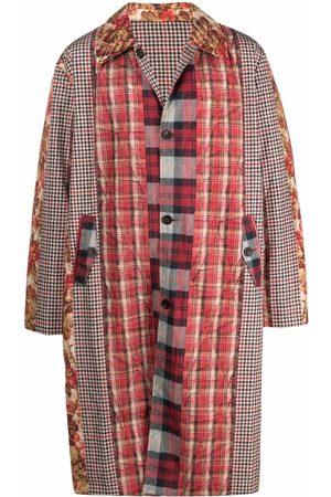 PIERRE-LOUIS MASCIA Men Coats - Reversible checked single-breasted coat