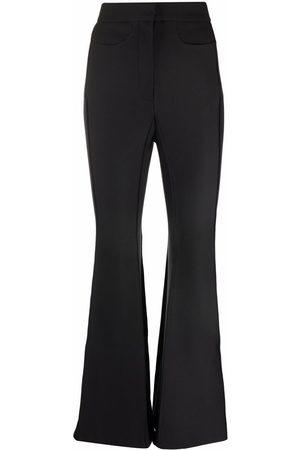 BEVZA Women Wide Leg Pants - High-waisted flared leg trousers