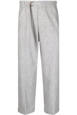 COSTUMEIN Belted wide-leg cropped trouser - Grey