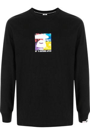 AAPE BY A BATHING APE Logo-print long-sleeved T-shirt