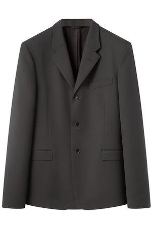 LEMAIRE Single-breasted Cavalry-twill Blazer - Mens - Dark Grey