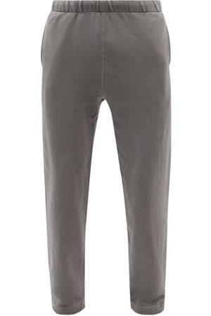 Lady White Co. Elasticated-waist Cotton-fleece Track Pants - Mens - Dark Grey