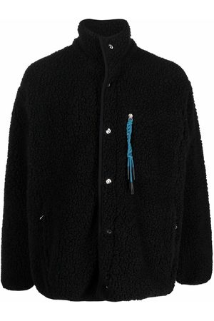 Palm Angels Men Fleece Jackets - Braid-detail fleece jacket