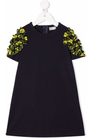 Il gufo Girls Printed Dresses - Check-print short-sleeved midi dress