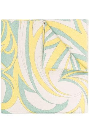 Emilio Pucci Tropicana-print wool scarf - Neutrals