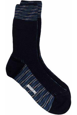 M Missoni Stripe-trim socks