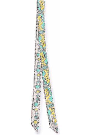 Emilio Pucci Jewel-print skinny scarf