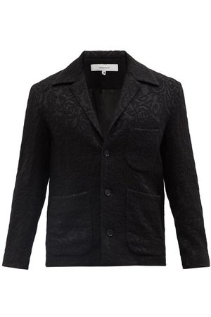 Sasquatchfabrix. Men Blazers - Single-breasted Canvas Suit Jacket - Mens