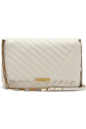 Isabel Marant Ladill Quilted Leather Shoulder Bag - Womens - Ivory