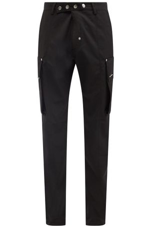 1017 ALYX 9SM Logo-appliqué Twill Cargo Trousers - Mens