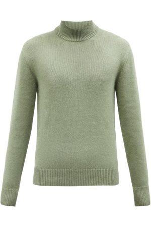 Tom Ford Men Turtlenecks - Cashmere-blend Roll-neck Sweater - Mens - Light