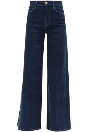 Frame Le Palazzo Wide-leg Jeans - Womens - Dark Denim