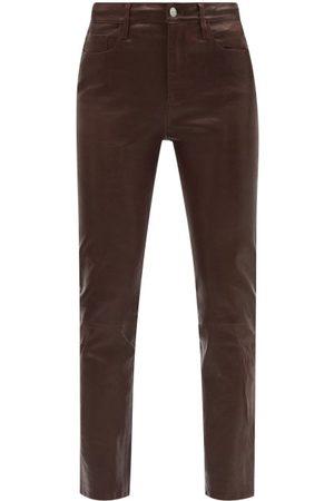 Frame Le Sylvie Leather Slim-leg Trousers - Womens