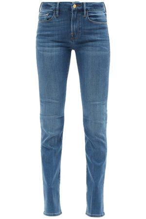 Frame Le Mini Slim-leg Bootcut Jeans - Womens - Mid Denim