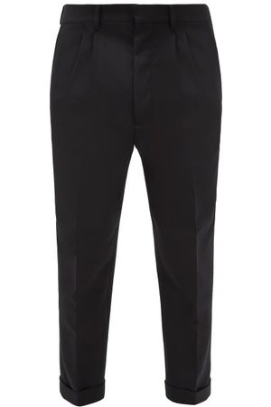 Ami Men Pants - Double-pleated Cropped Trousers - Mens