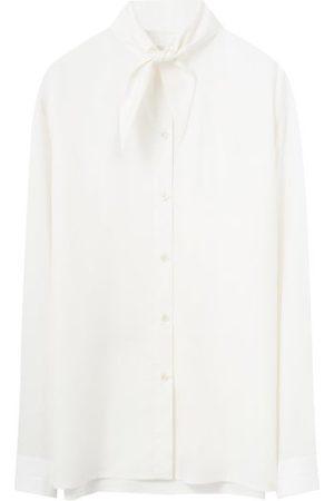 LEMAIRE Men Shirts - Tie-neck Cotton-poplin Shirt - Mens