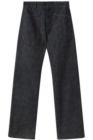 LEMAIRE Patch-pocket High-rise Wide-leg Jeans - Mens - Indigo