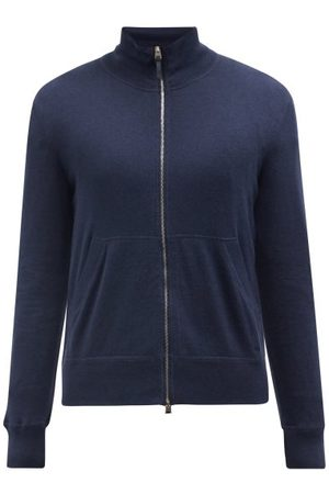 Tom Ford High-neck Zipped Cotton-blend Sweater - Mens