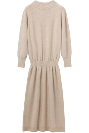 LEMAIRE Women Casual Dresses - Elasticated Drop-waist Wool Sweater Dress - Womens - Light