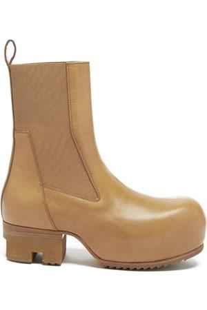 Rick Owens Beatle Ballast Leather Platform Chelsea Boots - Womens