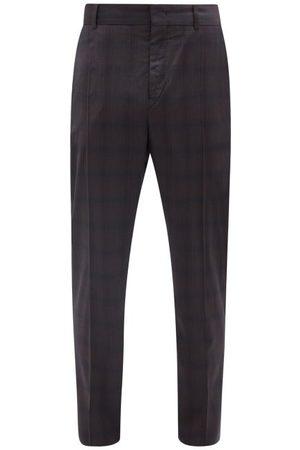 Isabel Marant Slimy Checked Wool Slim-leg Trousers - Mens - Navy