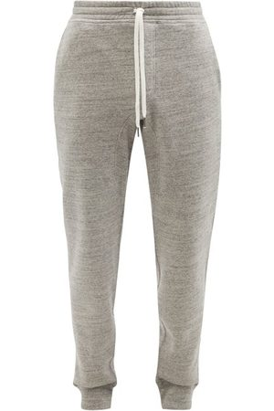 Tom Ford Cotton-jersey Track Pants - Mens - Grey