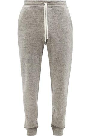 Tom Ford Men Sweatpants - Cotton-jersey Track Pants - Mens - Grey