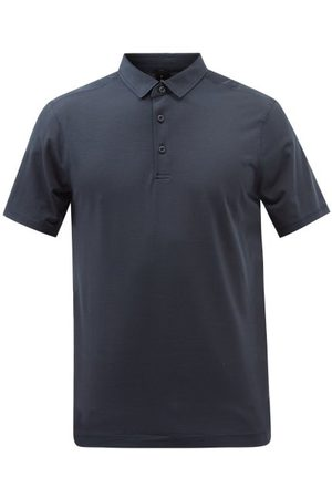 Lululemon Evolution Technical-jersey Polo Shirt - Mens - Navy